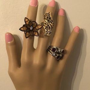 Jewelry - 🥳Estate sale rings gold and silver tone. Ring lot